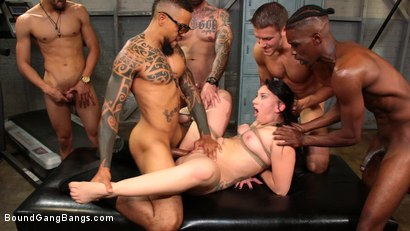 Photo number 14 from Mandy Muse Gets Her Big Ripe Ass Bound Up and Gangbanged shot for Bound Gang Bangs on Kink.com. Featuring Mandy Muse, Eddie Jaye, Jay Savage , Cody Steele , Cyrus King  and Ray Black in hardcore BDSM & Fetish porn.