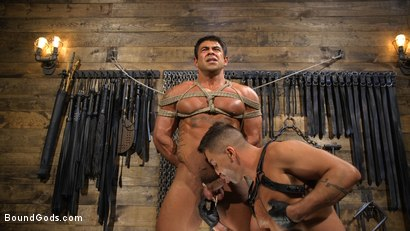 Photo number 12 from Bodybuilder Draven Navarro Takes Pain, Extreme CBT, and Gets Fucked shot for Bound Gods on Kink.com. Featuring Dominic Pacifico and Draven Navarro in hardcore BDSM & Fetish porn.