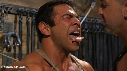 Photo number 13 from Bodybuilder Draven Navarro Takes Pain, Extreme CBT, and Gets Fucked shot for Bound Gods on Kink.com. Featuring Dominic Pacifico and Draven Navarro in hardcore BDSM & Fetish porn.