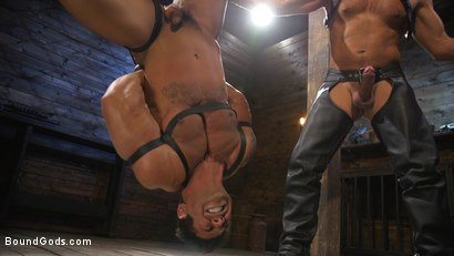 Photo number 17 from Bodybuilder Draven Navarro Takes Pain, Extreme CBT, and Gets Fucked shot for Bound Gods on Kink.com. Featuring Dominic Pacifico and Draven Navarro in hardcore BDSM & Fetish porn.