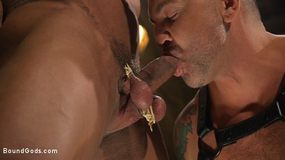 Photo number 3 from Bodybuilder Draven Navarro Takes Pain, Extreme CBT, and Gets Fucked shot for Bound Gods on Kink.com. Featuring Dominic Pacifico and Draven Navarro in hardcore BDSM & Fetish porn.