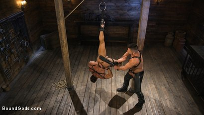 Photo number 4 from Bodybuilder Draven Navarro Takes Pain, Extreme CBT, and Gets Fucked shot for Bound Gods on Kink.com. Featuring Dominic Pacifico and Draven Navarro in hardcore BDSM & Fetish porn.