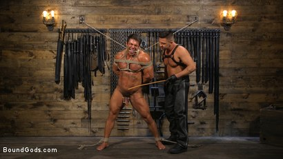 Photo number 9 from Bodybuilder Draven Navarro Takes Pain, Extreme CBT, and Gets Fucked shot for Bound Gods on Kink.com. Featuring Dominic Pacifico and Draven Navarro in hardcore BDSM & Fetish porn.