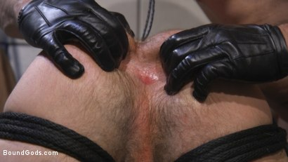 Photo number 18 from Leather God Trenton Ducati Dominates & Destroys Straight Stud  shot for Bound Gods on Kink.com. Featuring Trenton Ducati and Mason Lear in hardcore BDSM & Fetish porn.