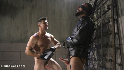 Photo number 20 from Leather God Trenton Ducati Dominates & Destroys Straight Stud  shot for Bound Gods on Kink.com. Featuring Trenton Ducati and Mason Lear in hardcore BDSM & Fetish porn.