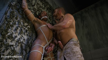 Photo number 1 from Lazy Soldier Gets Humiliated, Punished, Fucked shot for Bound Gods on Kink.com. Featuring Mike Maverick and Dirk Caber in hardcore BDSM & Fetish porn.