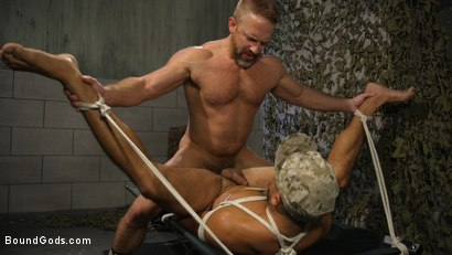 Photo number 16 from Lazy Soldier Gets Humiliated, Punished, Fucked shot for Bound Gods on Kink.com. Featuring Mike Maverick and Dirk Caber in hardcore BDSM & Fetish porn.