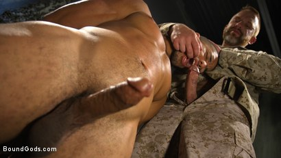 Photo number 7 from Lazy Soldier Gets Humiliated, Punished, Fucked shot for Bound Gods on Kink.com. Featuring Mike Maverick and Dirk Caber in hardcore BDSM & Fetish porn.
