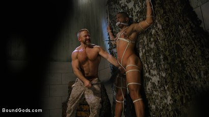 Photo number 10 from Lazy Soldier Gets Humiliated, Punished, Fucked shot for Bound Gods on Kink.com. Featuring Mike Maverick and Dirk Caber in hardcore BDSM & Fetish porn.