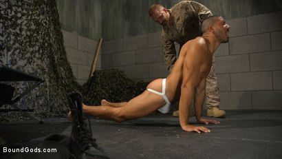 Photo number 11 from Lazy Soldier Gets Humiliated, Punished, Fucked shot for Bound Gods on Kink.com. Featuring Mike Maverick and Dirk Caber in hardcore BDSM & Fetish porn.