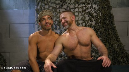 Photo number 19 from Lazy Soldier Gets Humiliated, Punished, Fucked shot for Bound Gods on Kink.com. Featuring Mike Maverick and Dirk Caber in hardcore BDSM & Fetish porn.