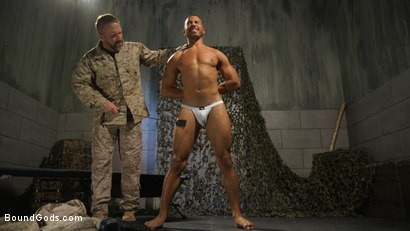 Photo number 3 from Lazy Soldier Gets Humiliated, Punished, Fucked shot for Bound Gods on Kink.com. Featuring Mike Maverick and Dirk Caber in hardcore BDSM & Fetish porn.