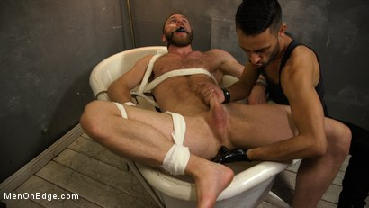Photo number 12 from Hairy Experienced Edger Meets His Match shot for Men On Edge on Kink.com. Featuring Peter Marcus in hardcore BDSM & Fetish porn.
