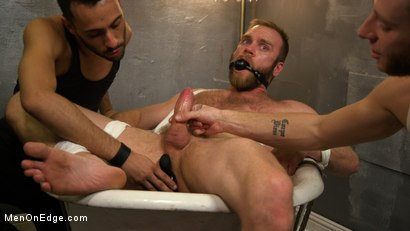 Photo number 13 from Hairy Experienced Edger Meets His Match shot for Men On Edge on Kink.com. Featuring Peter Marcus in hardcore BDSM & Fetish porn.