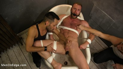 Photo number 10 from Hairy Experienced Edger Meets His Match shot for Men On Edge on Kink.com. Featuring Peter Marcus in hardcore BDSM & Fetish porn.