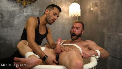 Photo number 3 from Hairy Experienced Edger Meets His Match shot for Men On Edge on Kink.com. Featuring Peter Marcus in hardcore BDSM & Fetish porn.