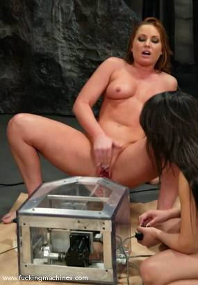 Photo number 4 from FLOWER TUCCI  vs.  ANNIE CRUZ in<br>THE GREAT FUCK OFF OLYMPICS: THE SQUIRTING CHALLENGE shot for Fucking Machines on Kink.com. Featuring Annie Cruz and Flower Tucci in hardcore BDSM & Fetish porn.
