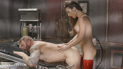 Photo number 15 from Tender Loving Care: Nurse Chanel Cures Colby With Her Hard Driving cock shot for TS Seduction on Kink.com. Featuring Chanel Santini and Colby Jansen in hardcore BDSM & Fetish porn.