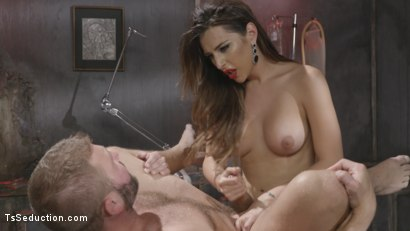 Photo number 24 from Tender Loving Care: Nurse Chanel Cures Colby With Her Hard Driving cock shot for TS Seduction on Kink.com. Featuring Chanel Santini and Colby Jansen in hardcore BDSM & Fetish porn.