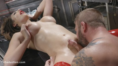 Photo number 27 from Tender Loving Care: Nurse Chanel Cures Colby With Her Hard Driving cock shot for TS Seduction on Kink.com. Featuring Chanel Santini and Colby Jansen in hardcore BDSM & Fetish porn.