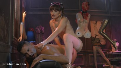 Photo number 6 from Natalie Mars Cuckolds the World: TS Star pounds slave, delivers JOI shot for TS Seduction on Kink.com. Featuring Natalie Mars  and Gabriel Dalessandro in hardcore BDSM & Fetish porn.