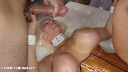Photo number 21 from MILF Dominatrix Takedown: Gigantic Titted Dominatrix Gets Bound & DP'd shot for Bound Gang Bangs on Kink.com. Featuring Eddie Jaye, Sam Coxxx, Rico Strong, Alura Jenson, Alex Legend and Slim Poke in hardcore BDSM & Fetish porn.