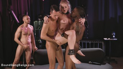 Photo number 29 from Caged Gangbang Slut: Submissive Lisey Sweet Gets Holes Cracked Open shot for Bound Gang Bangs on Kink.com. Featuring Lisey Sweet , Donny Sins, Isiah Maxwell, Ricky Johnson, Justin Hunt and Nathan Bronson in hardcore BDSM & Fetish porn.