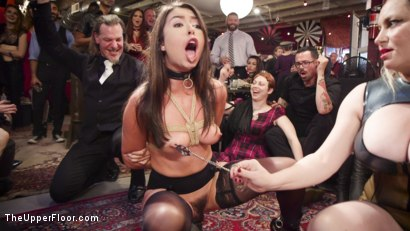 Photo number 1 from The Upper Floor Returns With a Squirting Slave Fuck Fest shot for The Upper Floor on Kink.com. Featuring Aiden Starr, Kira Noir, Melissa Moore and Owen Gray in hardcore BDSM & Fetish porn.