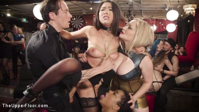 Photo number 5 from The Upper Floor Returns With a Squirting Slave Fuck Fest shot for The Upper Floor on Kink.com. Featuring Aiden Starr, Kira Noir, Melissa Moore and Owen Gray in hardcore BDSM & Fetish porn.