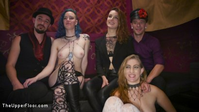 Photo number 19 from Nympho Slave Slut Soaks The Folsom Orgy with Squirt shot for The Upper Floor on Kink.com. Featuring Aiden Starr, Kira Noir, Melissa Moore and Owen Gray in hardcore BDSM & Fetish porn.