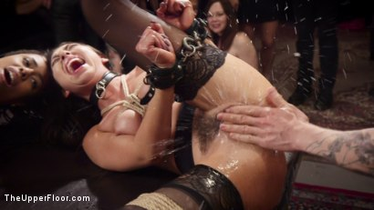 Photo number 9 from Nympho Slave Slut Soaks The Folsom Orgy with Squirt shot for The Upper Floor on Kink.com. Featuring Aiden Starr, Kira Noir, Melissa Moore and Owen Gray in hardcore BDSM & Fetish porn.