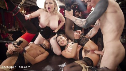 Photo number 11 from Nympho Slave Slut Soaks The Folsom Orgy with Squirt shot for The Upper Floor on Kink.com. Featuring Aiden Starr, Kira Noir, Melissa Moore and Owen Gray in hardcore BDSM & Fetish porn.