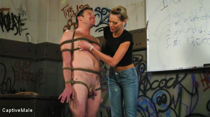 Photo number 11 from FemDomme Audrey Leigh Gives Dick Richards Low Grades shot for Captive Male on Kink.com. Featuring Audrey Leigh and Dick Richards in hardcore BDSM & Fetish porn.
