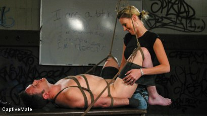 Photo number 14 from FemDomme Audrey Leigh Gives Dick Richards Low Grades shot for Captive Male on Kink.com. Featuring Audrey Leigh and Dick Richards in hardcore BDSM & Fetish porn.