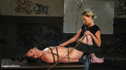 Photo number 16 from FemDomme Audrey Leigh Gives Dick Richards Low Grades shot for Captive Male on Kink.com. Featuring Audrey Leigh and Dick Richards in hardcore BDSM & Fetish porn.
