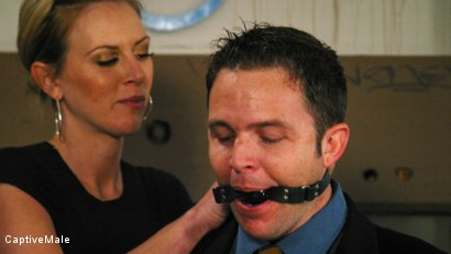 Photo number 2 from FemDomme Audrey Leigh Gives Dick Richards Low Grades shot for Captive Male on Kink.com. Featuring Audrey Leigh and Dick Richards in hardcore BDSM & Fetish porn.