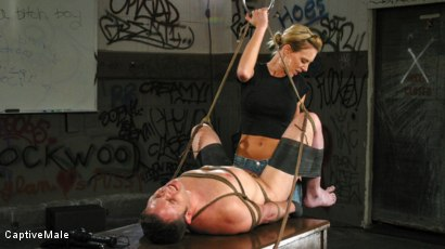 Photo number 15 from FemDomme Audrey Leigh Gives Dick Richards Low Grades shot for Captive Male on Kink.com. Featuring Audrey Leigh and Dick Richards in hardcore BDSM & Fetish porn.