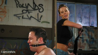 Photo number 6 from FemDomme Audrey Leigh Gives Dick Richards Low Grades shot for Captive Male on Kink.com. Featuring Audrey Leigh and Dick Richards in hardcore BDSM & Fetish porn.