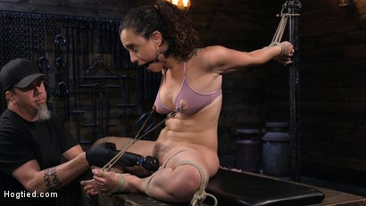 Photo number 3 from Roxanne Rae is Back to Suffer for The Pope shot for Hogtied on Kink.com. Featuring The Pope and Roxanne Rae in hardcore BDSM & Fetish porn.
