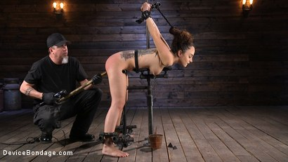 Photo number 2 from Careful What You Wish For shot for Device Bondage on Kink.com. Featuring The Pope and Roxanne Rae in hardcore BDSM & Fetish porn.