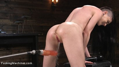 Photo number 1 from Slender Brunette Newcomer Gets Her First Taste shot for Fucking Machines on Kink.com. Featuring Lydia Black in hardcore BDSM & Fetish porn.