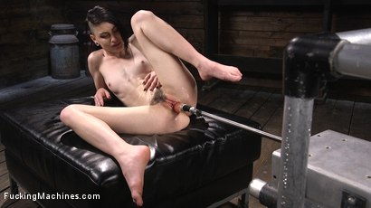 Photo number 15 from Slender Brunette Newcomer Gets Her First Taste shot for Fucking Machines on Kink.com. Featuring Lydia Black in hardcore BDSM & Fetish porn.