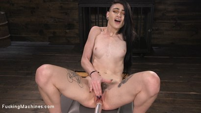 Photo number 8 from Slender Brunette Newcomer Gets Her First Taste shot for Fucking Machines on Kink.com. Featuring Lydia Black in hardcore BDSM & Fetish porn.