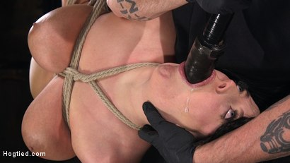 Photo number 11 from Angela White's First Time in Brutal Bondage and Tormented shot for Hogtied on Kink.com. Featuring The Pope and Angela White in hardcore BDSM & Fetish porn.