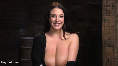 Photo number 15 from Angela White's First Time in Brutal Bondage and Tormented shot for Hogtied on Kink.com. Featuring The Pope and Angela White in hardcore BDSM & Fetish porn.