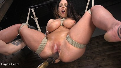 Photo number 7 from Angela White's First Time in Brutal Bondage and Tormented shot for Hogtied on Kink.com. Featuring The Pope and Angela White in hardcore BDSM & Fetish porn.