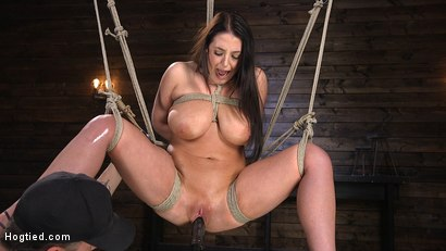 Photo number 8 from Angela White's First Time in Brutal Bondage and Tormented shot for Hogtied on Kink.com. Featuring The Pope and Angela White in hardcore BDSM & Fetish porn.
