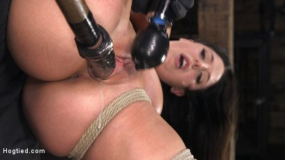 Photo number 12 from Angela White's First Time in Brutal Bondage and Tormented shot for Hogtied on Kink.com. Featuring The Pope and Angela White in hardcore BDSM & Fetish porn.
