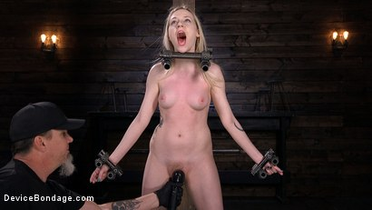 Photo number 3 from Fresh Meat: Violet October Gets the Full Treatment shot for Device Bondage on Kink.com. Featuring The Pope and Violet October in hardcore BDSM & Fetish porn.