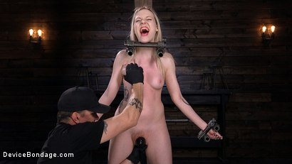 Photo number 4 from Fresh Meat: Violet October Gets the Full Treatment shot for Device Bondage on Kink.com. Featuring The Pope and Violet October in hardcore BDSM & Fetish porn.